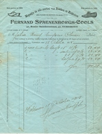 Factuur Turnhout Renier Sniedersstraat Fernand Spaenenborgh Cools Groothandel Blokken & Blokleêren 1915 - 1900 – 1949