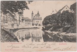 8673 Eb.   Ljubljana Laibach - 1906 - 5 Heller  Oesterr. Post - Per Triest Trieste FP - Slovenia