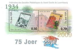 Luxembourg  -  16 Septembre 2009  -  Bloc-Feuillet 75e Anniversaire De La Philatélique Luxembg - Blocs & Feuillets