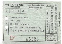Impresa Fratelli Lazzi (Firenze). Linea Montecatini Alto - Montecatini FF. SS. - Bus