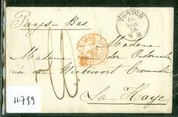 HANDGESCHREVEN BRIEF Uit 1856 Van TORINO ITALIE Aan Mme Van Der OUDERMEULEN WICKEVOORT CROMMELIN LA HAYE  (11.799) - Non Classés