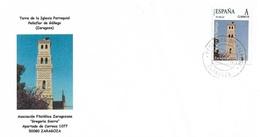 SPAIN. COVER PEÑAFLOR DE GALLEGO (ZARAGOZA). CHURCH - 1931-Hoy: 2ª República - ... Juan Carlos I