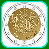 2020 Estland ESTONIA 2 Euro 100 Jahre Friedensvertrag Von Tartu -  Münzen Coin UNC FROM MINT ROLL - Estonia
