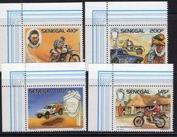 Senegal  1987  -   10e Anniversaire Du Rallye Paris-Dakar  -  4v  Neuf/Mint/MNH - Motorbikes