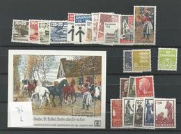1976 MNH Denmark, Year Complete Postfris** - Denmark