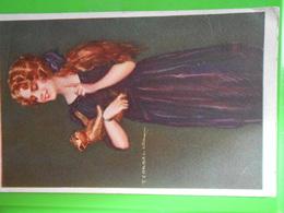 Cpa Illustrateur Signé Femme Frau Lady - Künstlerkarten