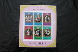 Anguilla 228a Christmas Paintings Raphael MNH Souvenir Sheet Block 1975  A04s - Anguilla (1968-...)