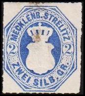 1864. MECKLENBURG-STRELITZ. Wappen. 2 SILB. GR.. Thin/Dünn/Tynd. () - JF319823 - Mecklenburg-Strelitz