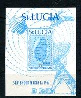 Map Of St. Lucia 1967 Sc C1 Imperf Souvenir Sheet Cv $50 - St.Lucia (...-1978)