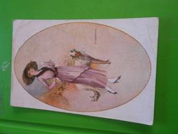 Cpa Illustrateur Signé Femme Frau Lady - Illustrateurs & Photographes