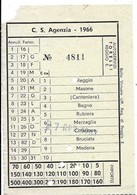 Autoservizi Torelli (Reggio Emilia). C.S. Agenzia - 1966. Linea : Reggio-Modena. - Bus