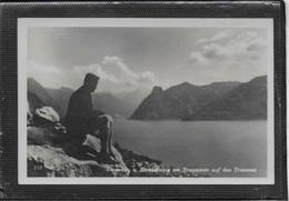 AK 0413  Gmunden - Blick Vom Hernlersteig Am Traunstein Auf Den Traunsee / Verlag Dobl Um 1940-50 - Gmunden