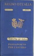"""6471 """"PASSAPORTO PER L'ESTERO-REGNO D'ITALIA CON DUE STEMMI REGNO E REPUBBLICA SOCIALE-RILASCIATO NEL 1934""""  ORIGINALE - Documenti Storici"""
