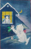 POES Chats CPA Carte Fantaisie Reclame Publicite Cachet Maison Conrard-Theca Parfumerie Coiffeur Uccle Bois CPA - Cats