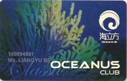 Carte De Casino à Macau Macao : Oceanus Club (Sociedade De Jogos De Macau S.A.) - Cartes De Casino