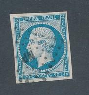 FRANCE - N°14A OBLITERE AMBULANT NP - 1854 - 1853-1860 Napoléon III.