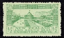 New Zealand 1925 Dunedin Exhibition 1/2d MH - - - Unused Stamps