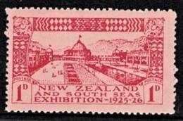 New Zealand 1925 Dunedin Exhibition 1d MH - Unused Stamps