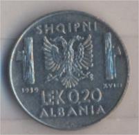 Albanien KM-Nr. : 29 1939 R Vorzüglich Stahl 1939 0,20 Lek Italienische Besetzung (9157923 - Albania