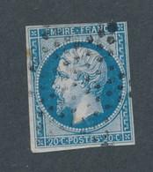 FRANCE - N°14B OBLITERE ETOILE DE PARIS - 1860 - 1853-1860 Napoleone III