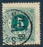 Sweden Suède Sverige: Facit 19e, 5ö Dark Blue-green Ringtyp P14, Good Used (DCSV00327) - Oblitérés