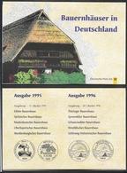 BRD  1995 +96 , Bauernhäuser In Deutschland - Grosses Faltblatt Mit Allen 10 Marken + Sondestempel / Fine Used / (o) - [7] West-Duitsland