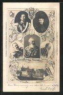 AK Nürnberg, Goldene Jubelfeier D. German. Museums 1902, Kaiser Wilhelm II. Und Gemahlin, Ganzsache Bayern, PP15 C43 - Stamped Stationery
