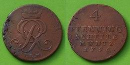 Braunschweig-Wolfenbüttel-Calenberg-Hannover 4 Pfennig 1796 (n448 - Small Coins & Other Subdivisions