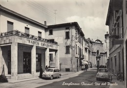 LANGHIRANO-PARMA-VIA DEL POPOLO-CARTOLINA VERA FOTOGRAFIA- VIAGGIATA IL 17-7-1960 - Parma