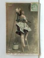 OLYMPIA - BERCK - ECHELLE - SEAU - DOS SIMPLE - 1903 - Cabaret