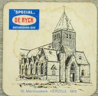 Sous-bock SPECIAL DE RYCK St Martinuskerk Herzele 1913 église Kerk Bierdeckel Beermat Bierviltje (CX) - Portavasos