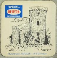 Sous-bock SPECIAL DE RYCK Burchtruïne Herzele 11e à 12e Eeuw Ruines Bierdeckel Beermat Bierviltje (CX) - Portavasos
