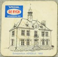 Sous-bock SPECIAL DE RYCK Schepenhuis Herzele 1952 Bierdeckel Beermat Bierviltje (CX) - Portavasos