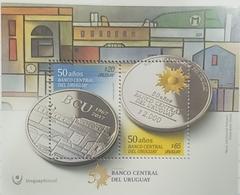 O) 2017 URUGUAY,COMMEMORATIVE CURRENCY BANK CENTRAL -COIN - GOLDEN SUN -PORT CONSTRUCTION WORK WALTER DELIOTTI, MNH - Uruguay