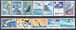 AAT  L 23-34    **   POLAR  FOOD  CHAIN, EXPLORERS, KRILL - Unused Stamps