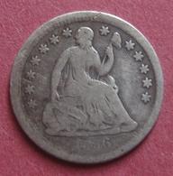 USA 1856 Silver HALF DIME (5 Cents) Seated Liberty - EDICIONES FEDERALES