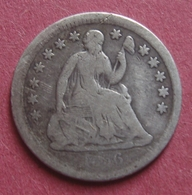 USA 1856 Silver HALF DIME (5 Cents) Seated Liberty - Federal Issues