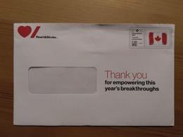 Canada Heart & Stroke Foundation Flag Admail Full Envelope Used - Canada