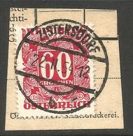 AUSTRIA. 60g POSTAGE DUE. USED ZISTERDORF POSTMARK - Postage Due