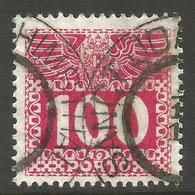 AUSTRIA / BOHEMIA / CZECH. POSTAGE DUE. 100h USED SANCT JOACHIMSTHAL POSTMARK. - Postage Due