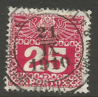 AUSTRIA / BOHEMIA / CZECH. 25h POSTAGE DUE. USED TEPLITZ POSTMARK - Postage Due