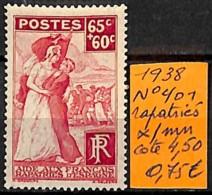 D - [835216]TB//*/Mh-c:5e-France 1938 - N° 401, Rapatriés - Unused Stamps