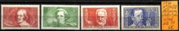 D - [835226]TB//*/Mh-c:34e-France 1936 - N° 330/33, Chômeurs Intellectuel, Célébrités - Used Stamps