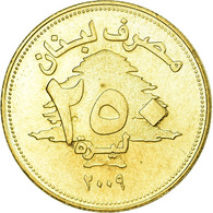 Monnaie, Lebanon, 250 Livres, 2009, SUP, Aluminum-Bronze, KM:36 - Liban