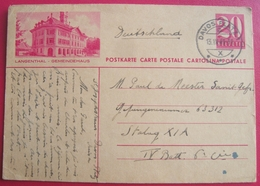 SUISSE Davos Autographe Placide De Meester Courrier 1943 Kriegsgefangener Prisonnier De Guerre Stalag XI A - GR Grisons