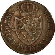 Monnaie, Etats Allemands, NASSAU, Wilhelm, 1/4 Kreuzer, 1818, Usingen, TB+ - Small Coins & Other Subdivisions