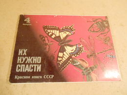 They Need To Be Rescued. Issue 4. A Set Of 16 Postcards. 1987 - Insectos