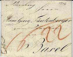 1806- Letter From Nurnberg ( Manuscript )  Rating Red Pencil To Basel - Duitsland