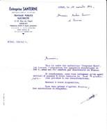 Lettre Commerciale De Arras (62) Pour Amiens (80) - 12 Novembre 1964 - Entreprise Santerne Electricité - Electricité & Gaz