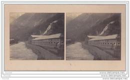 38) La Romanche  (Isère) Carte Photo Stéréo Sur  Support Cartonné Format 14 X 7,5 - Le 05 Juillet 1902 -  Usine Chimique - Vienne